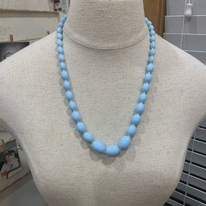 💛 Baby Blue Beaded Necklace